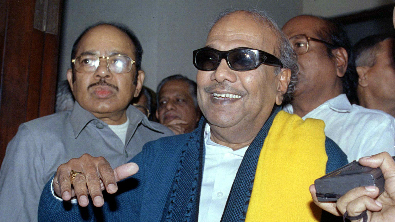 Literature and art   Before entering active politics, Karunanidhi worked in the Tamil film industry as a screenwriter. He wrote poems, novels, biographies, historical novels, stage-plays and movie songs. Karunanidhi also contributed to art and architecture. (Image: Reuters)