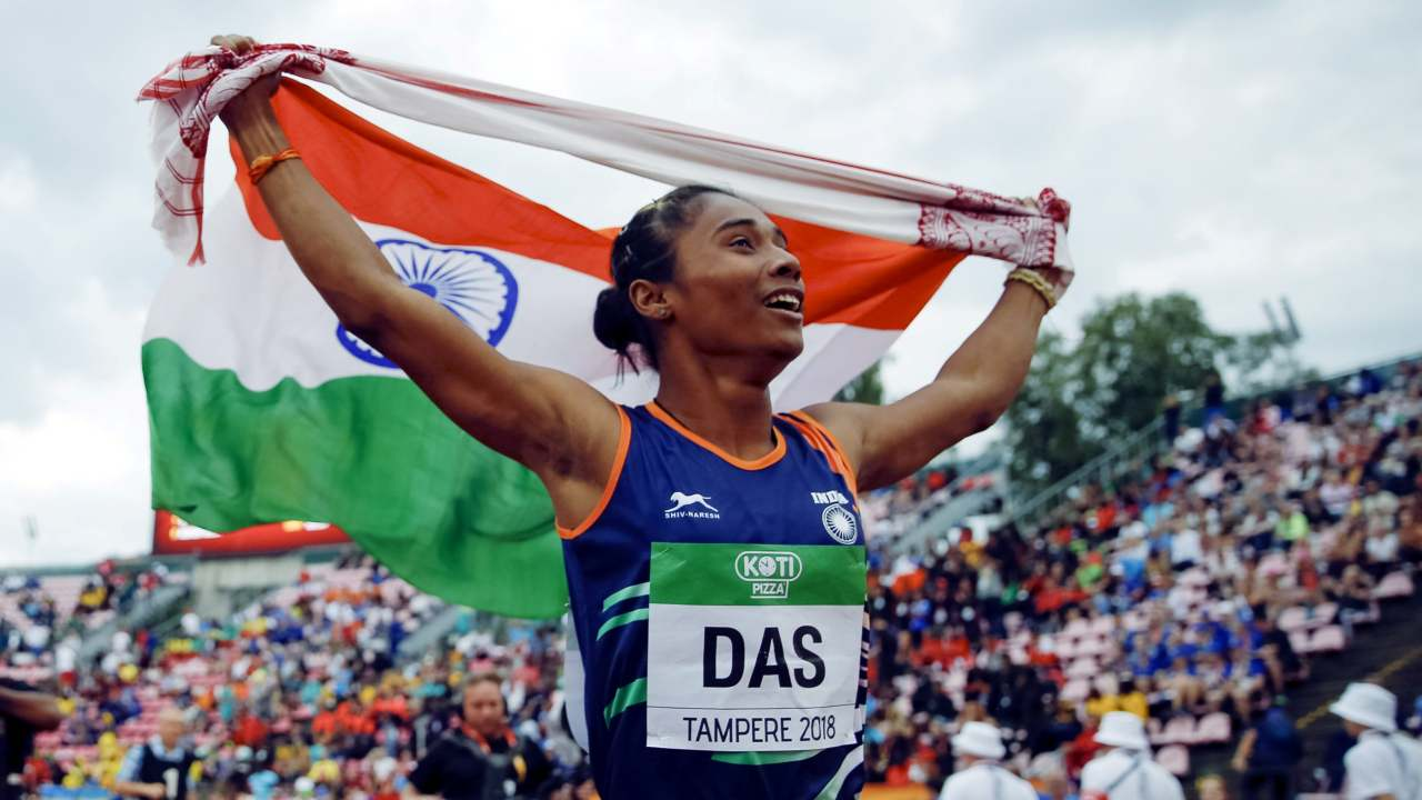 Hima Das | The 18-year-old 'Golden girl' from Assam, created history by becoming the first Indian to win a track gold at World Junior Athletics Championship 2018. Her time of 51.46 seconds in women's 400 metre won her the gold medal in Tampere, Finland. (Image: Reuters)