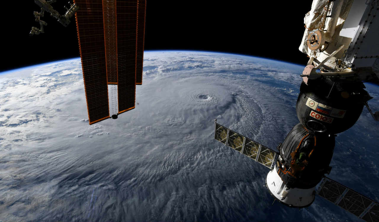 A photo taken from the International Space Station and moved on social media by astronaut Ricky Arnold shows Hurricane Lane in the early morning hours near Hawaii, U.S. (Reuters)