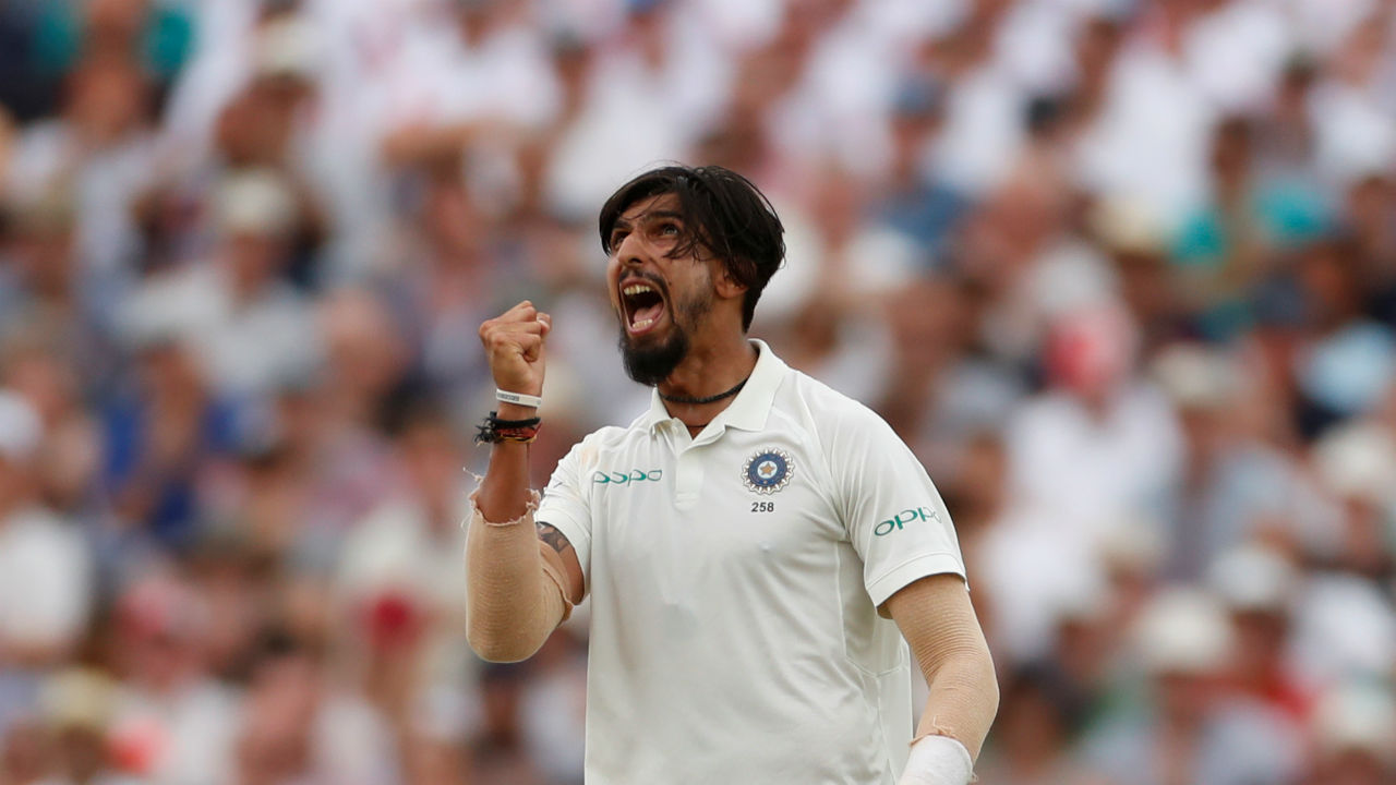 Ishant Sharma bowled a fiery spell to complete his 5-wicket haul, which was his 8th in Test matches. He took the wickets of Malan, Bairstow, Stokes, Buttler and Broad. (Image:Reuters)