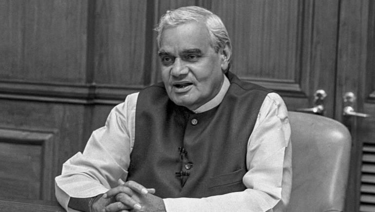 Vajpayee's body reaches BJP headquarters, leaders line up to