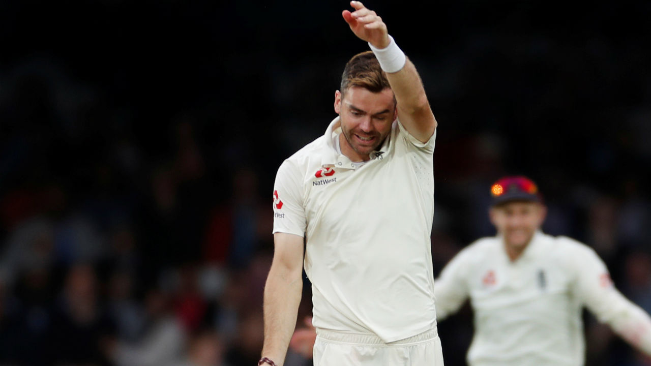 England ended the first day on happy note as James Anderson got the wicket of Hardik Pandya on the last ball of the day. The Indian all-rounder edged an out-swinging delivery of Anderson to give Jos Buttler standing at slip an easy catch. Anderson's wicket of Pandya was his 100th Test wicket against India. (Image - Reuters)