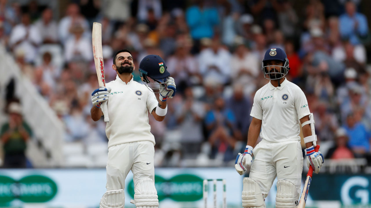 There was no damage at the other end as Kohli continued batting with great aplomb even after Tea. He soon completed his Ton in style by scoring a boundary off Chris Woakes' delivery. It was Indian captain's second century of the series and 23rd Test century overall. He is also the leading run scorer in the ongoing series. (Image - Reuters)
