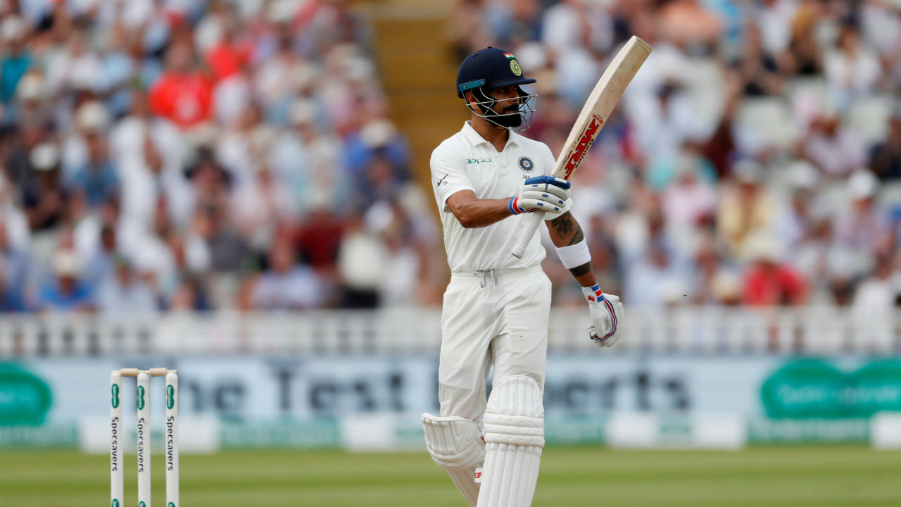 Captain Kohli then played a measured innings with the tail and brought up his first Test 50 on English soil. What followed was excellent contest between the bat and ball. Anderson teased and beat Kohli outside the off stump many a time and Kohli didn't wither. The English players were left wondering if Kohli's dropped catches would cost them heavy. (Image: Reuters)