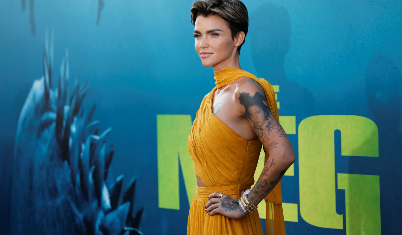 """Cast member Ruby Rose poses at the premiere for """"The Meg"""" in Los Angeles, California, U.S. (Reuters)"""
