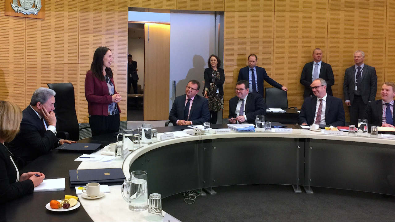 New Zealand Prime Minister Jacinda Ardern speaks as she attends her first cabinet meeting since returning from maternity leave in Wellington, New Zealand. (Photo: Reuters)
