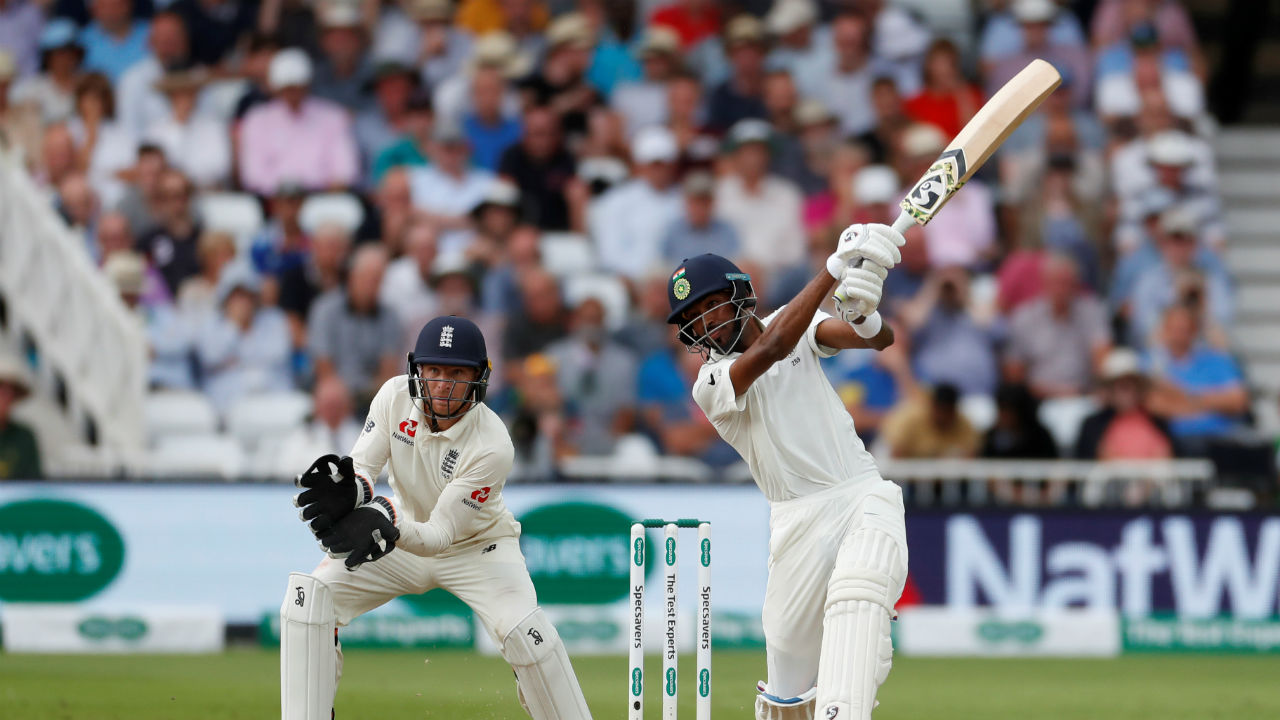 As Kohli delayed India's declaration, Pandya got into the T20 mode with his bat. The all rounder brought his half century in only 50 balls. This was Pandya's 4th Test fifty. India finally declared after the Pandya reached the landmark in the 110th over with a lead of 520 runs. (Image - Reuters)