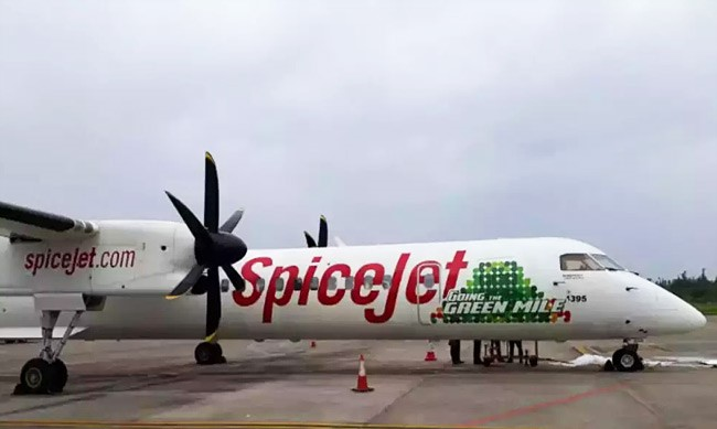 Q12. What is the significance of this aircraft from Spice-Jet?
