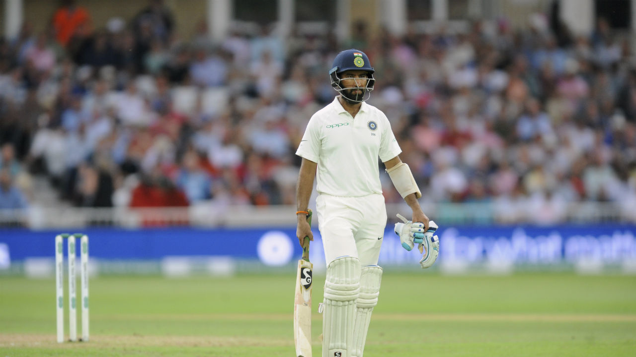 Post Lunch, Pujara was India's first casualty of the day. He was out on a Ben Stokes ball as he edged it to Alastair Cook standing at 1st slip. Pujara made 72 of 208 balls and stitched a 113 run stand with Kohli. (Image - AP)