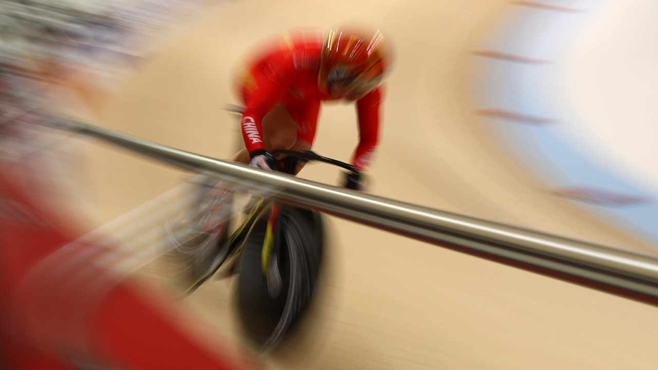 Zhong Tianshi of China competes competes in the sprint event at the Asian Games. (Image: Reuters)
