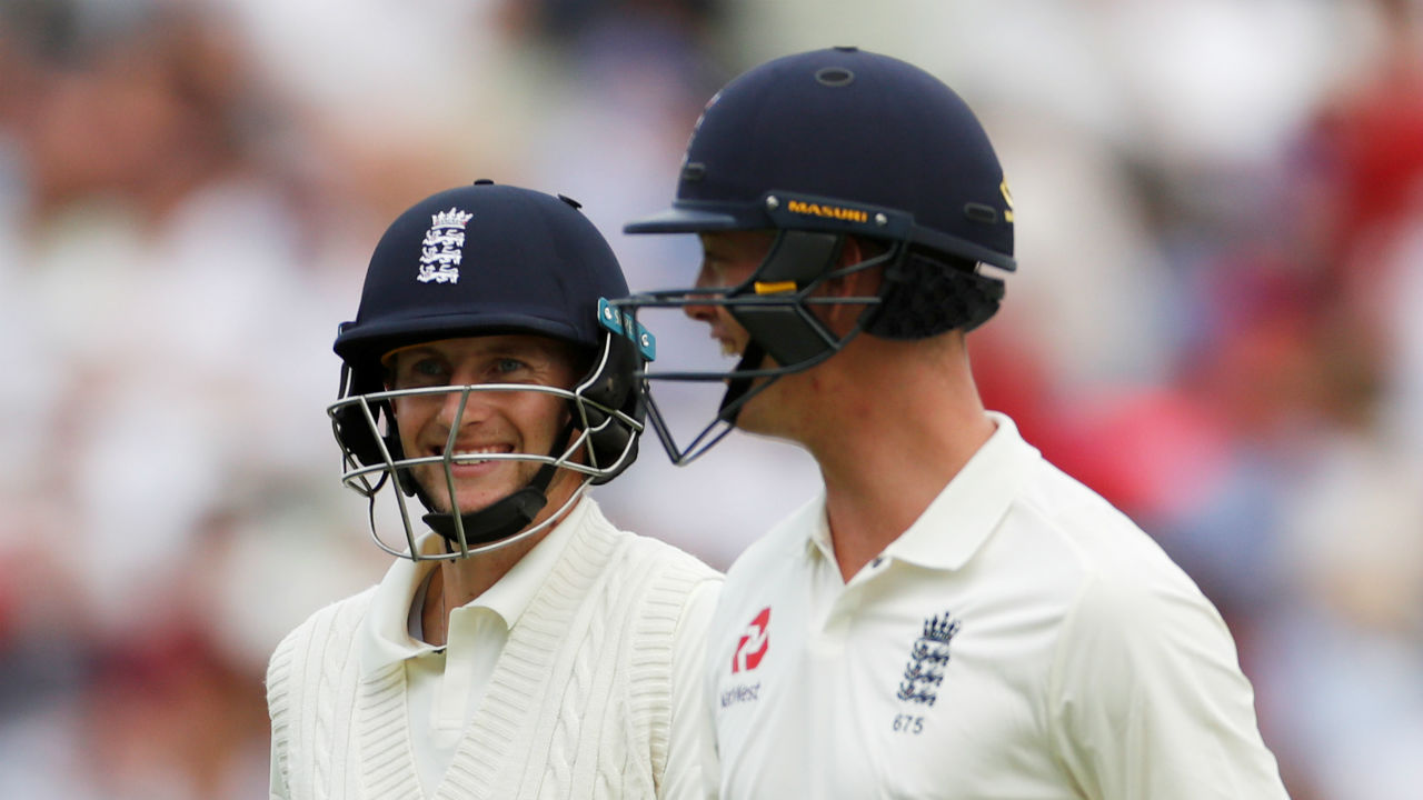Joe Root and Keaton Jennings stitched a partnership. (Picture:Reuters)