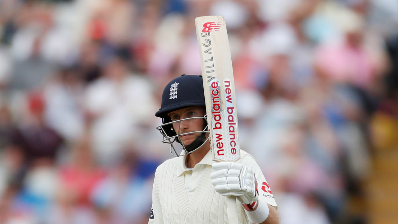 Joe Root steadied the English innings. Scores a 50. (Picture:Reuters)