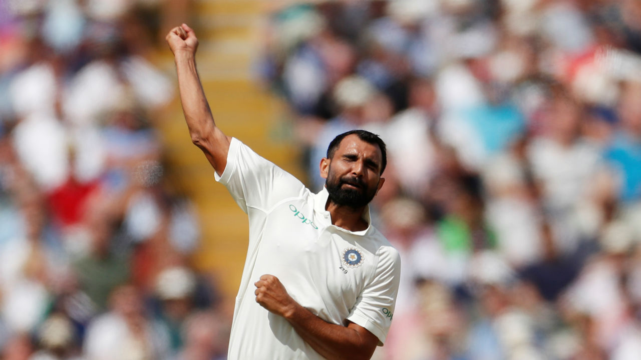Mohammed Shami brought India back in to the game with two quick wickets.(Picture:Reuters)
