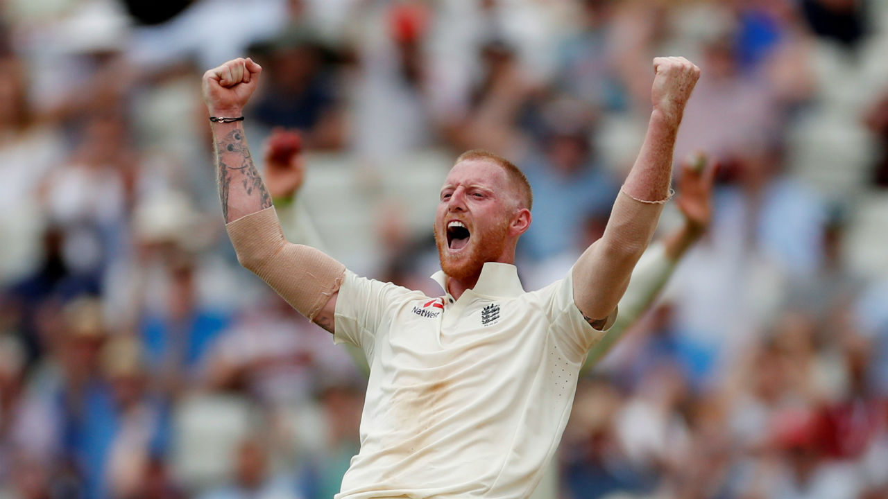 Ben Stokes gave Curran company picking up two wickets in his spell after lunch. He first got Ajinkya Rahane caught at slips and then came back to dismiss Dinesh Karthik sending his middle stump flying as he picked up his 100th Test wicket. India were 100/5 and a follow-on was looming. (Image: Reuters)