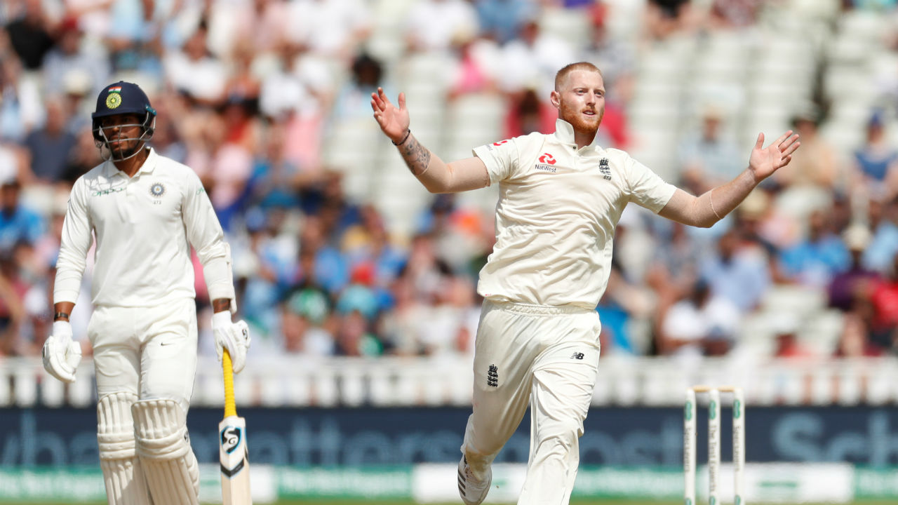 Ben Stokes took four wickets on the final morning to clean up India's tail and hand England victory in the first Test. (Image: Reuters)