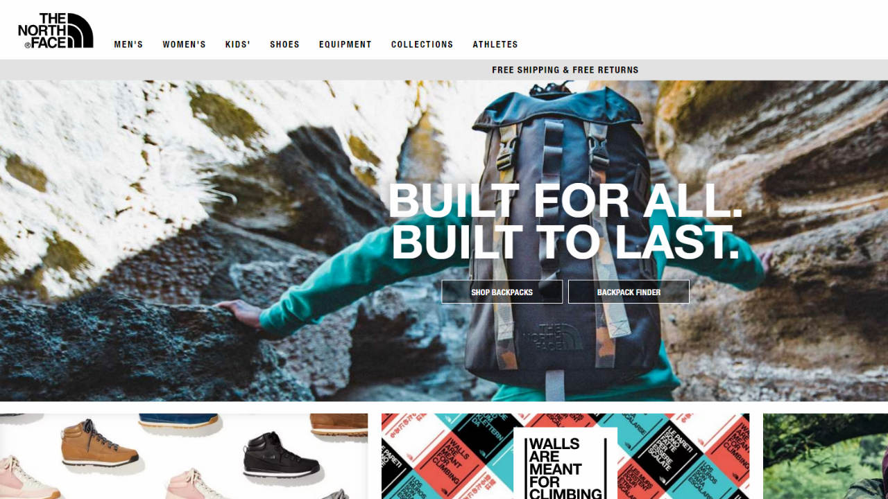 Answer: North Face (Image: Company website)