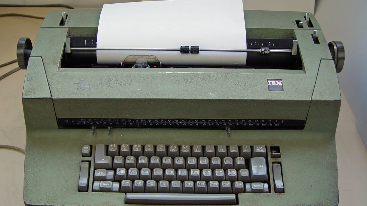 "Typewriters and the QWERTY layout of the keyboard seem to be one of the few things that have stood the test of time. The layout first caught the fancy of typewriter designers in the 1870s. They are now at the virtual beck and call of the billions of netizens worldwide, making it unsurprising that only 27 percent of the children surveyed were unable to identify the typewriter. The ""Courier"" format has also become synonymous with the typewriter and film scripts, with one child having described it described it as, ""a thing you write movies on"". (Image: Wikimedia Commons)"