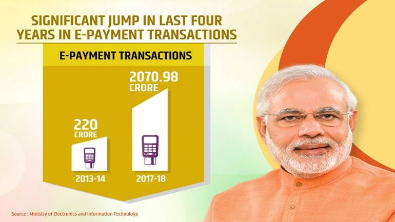 A BJP advertisement on e-payment transactions