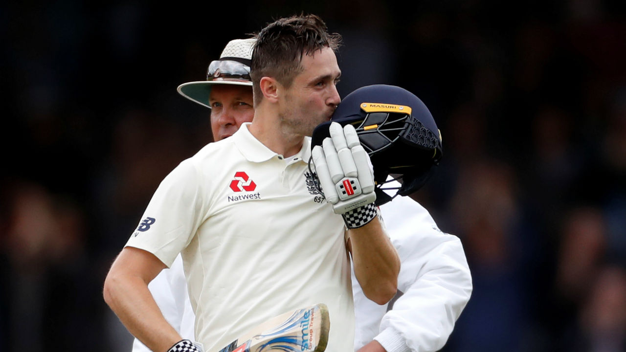 Woakes carried on his brilliant batting and marked his return to the England Test squad by completing his maiden Test century. His hundred came off just 129 deliveries as he joins an elite group of cricketers who have their names engraved on both the batting and bowling honours boards at the Lord's. (Image-Reuters)