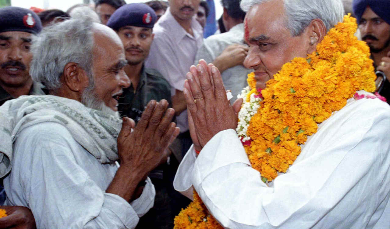 "September 25, 2003 - New York | ""Poverty is multidimensional. It extends beyond money incomes to education, health care, political participation and advancement of one's own culture and social organisation."" Vajpayee said this when he addressed the 58th United Nations General Assembly. He was speaking on how globalisation can help alleviate poverty. (Image: Reuters)"