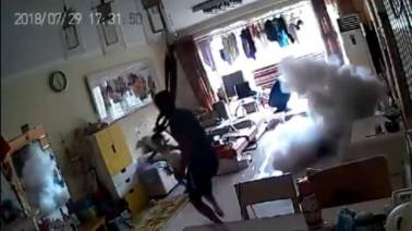 E-scooter explodes in a Beijing flat, father and daughter escape unscathed