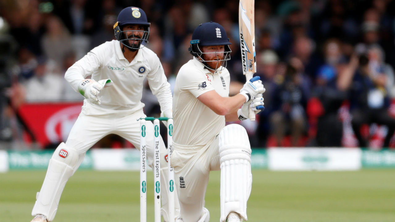 After Buttler's dismissal, Bairstow continued at the crease building a fruitful partnership with Chris Woakes. Bairstow went past the fifty run mark in the 46th over, his half century coming from just 76 balls. (Image – Reuters)