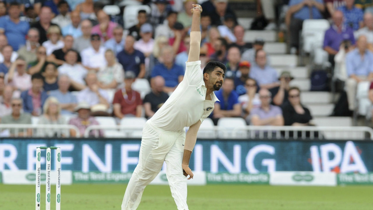 Jasprit Bumrah opened the bowling for India as England openers started their chase of 521 runs. He along with fellow pacer Ishant Sharma bowled a fiery spell for 40 minutes but without any luck. (Image - Reuters)