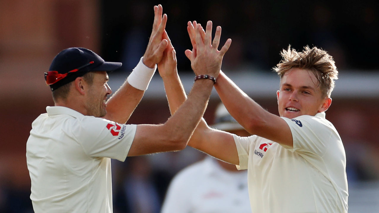 Sam Curran then came to the party as he bowled Dinesh Karthik with a sensational delivery that started around the fourth stump area but eventually sneaked in between bat and pad to crash into the stumps. (Image: Reuters)