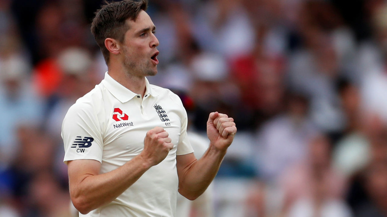 Chris Woakes dealt India another blow just before lunch when he scalped Pujara to finish with three wickets in the first session. He sent down a short ball luring Pujara into a pull shot. The Indian batsman could only find Rashid at deep backward square who took the catch calmly. (Image - Reuters)