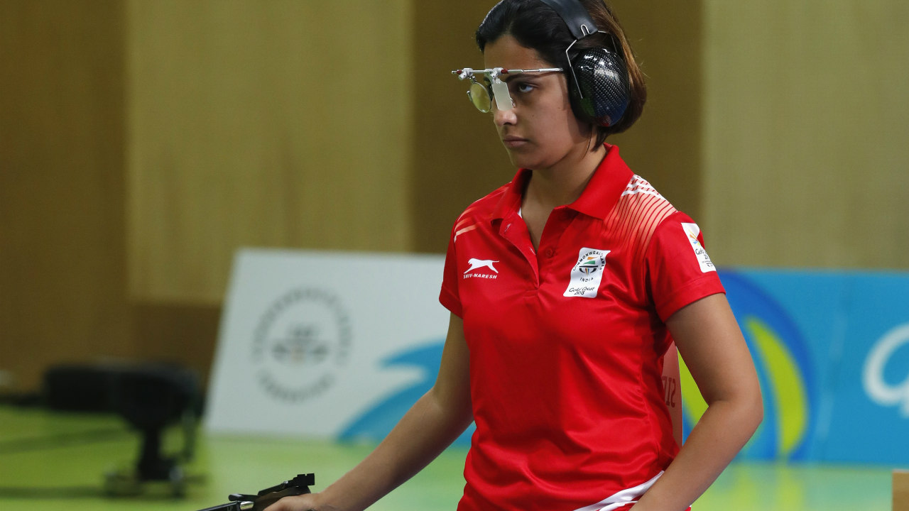 Henna Sidhu | Sidhu has been among the medals this year, winning gold in the 25m air pistol event and silver in the 10m air pistol event during the 2018 CWG. She managed to break the CWG record of 38 en route to her gold in the 25m event. Alongside young prodigy Manu Bhaker she will be tipped to bring home some medals from the tournament in Indonesia. (Image – Reuters)