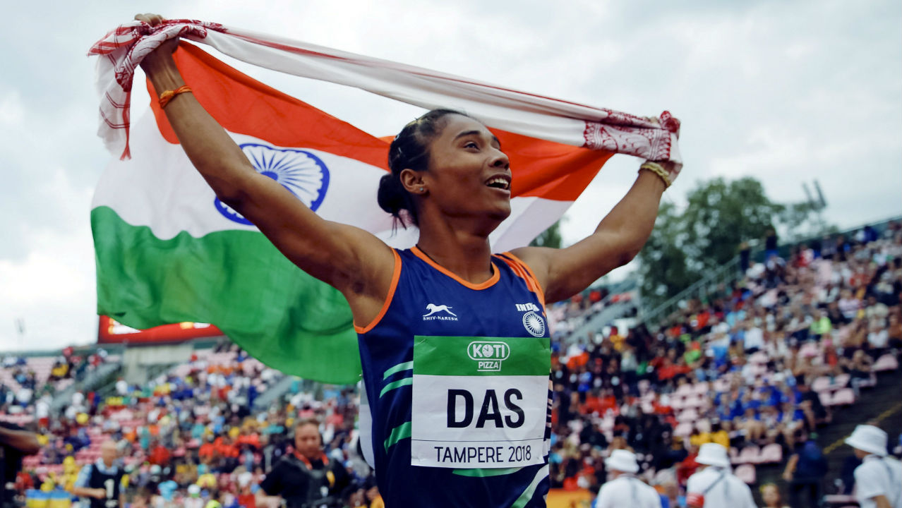 Hima Das | The 18-year-old followed up her sixth place finish at the Gold Coast CWG by becoming the first Indian to win a gold medal in track and field at a global athletics event by clinching gold in the 400m sprint of the World U-20 Championship 2018 in Finland. She will be competing in the 200m and 400m sprint. (Image – Reuters)