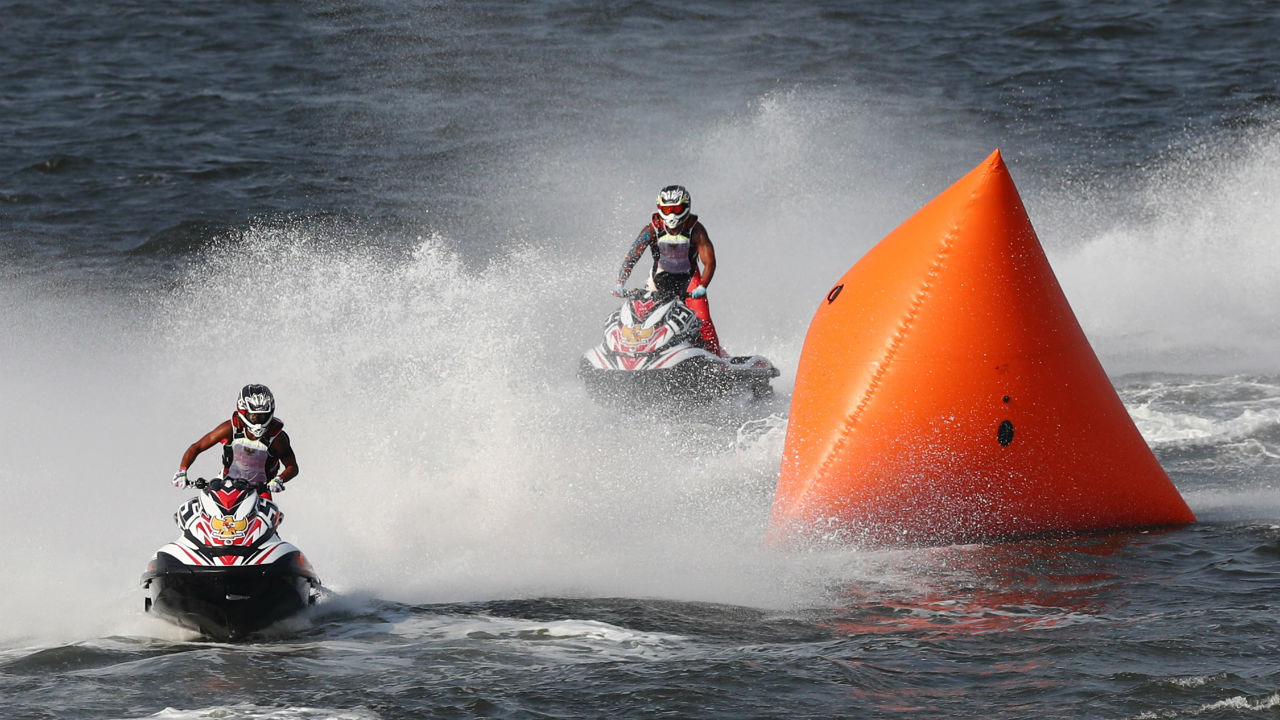 JET SKI | The jet ski competition features events such as Endurance Runabout Open, Runabout 1100 Stock, Runabout limited and Ski Modified. Jet ski has been a part of the Asian Beach Games in the past. While there are six categories played at the beach event, only four have been included at the games this year. (Image – Reuters)