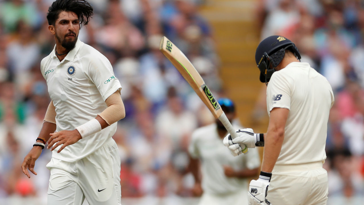 Ishant Sharma then got into the thick of the action when he sent Malan back in the 27th over. The delivery started on the middle stump and moved away from the left hander. Malan looked to defend it but an outside edge found Rahane at gully. (Image: Reuters)