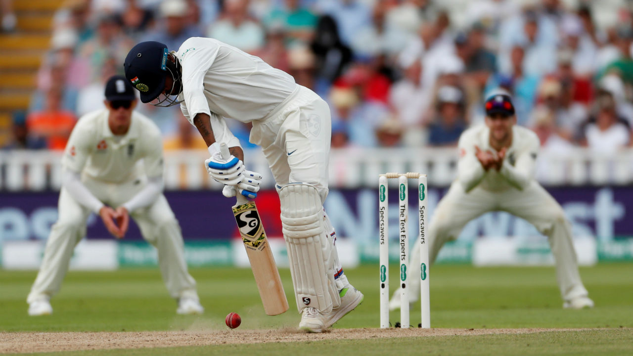 Curran then returned to torment the Indian batsmen and broke the 48-run partnership between Kohli and Hardik Pandya, catching the latter LBW with a lethal yorker. (Image: Reuters)