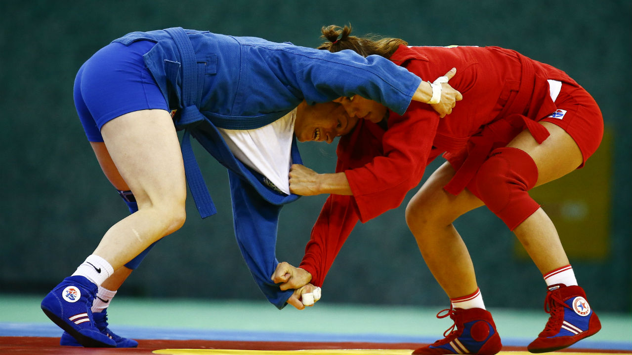 SAMBO| Sambo is a hand-to-hand fighting technique which developed in Soviet Russia after the Bolshevik revolution in 1917. The sports name is an abbreviation for SAMozashchita Bez Oruzhiya which literally translates to self-defense without weapons. (Image – Reuters)