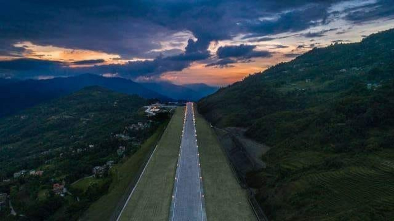The foundation stone for the greenfield airport was laid in Pakyong, which is around 33 km from Gangtok, in 2009. (Image: Airports Authority of India)