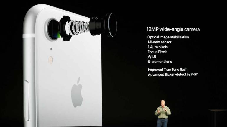On the optics front, iPhone XR comes equipped with 12MP rear camera with an aperture rate of ƒ/1.8. In the front, there is a 7MP camera with an aperture rate of ƒ/2.2. iPhone XR is available in six peppy colours--red, yellow, white, coral, black and blue. (Reuters)
