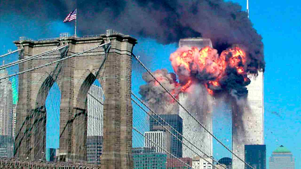 """Over the years, a number of theories have popped up regarding the sudden collapse of the towers. One of the more tenable theory is the """"molten aluminum"""" theory. Two scientists independently said that at extremely high temperatures (over 540°C), aluminum melts and if it comes in contact with water it could become a powerful explosive. It made perfect sense as the burning towers might have acted as a furnace, melting the aluminum, which is the primary material used in the construction of airplanes. The water from sprinklers could have propelled the explosion. However, apart from discarding the molten-aluminum theory, the official investigation report doesn't mention plane wreckage in the towers. Why did they not buy the theory and run with it? Do they know something we don't? (Image: Reuters)"""