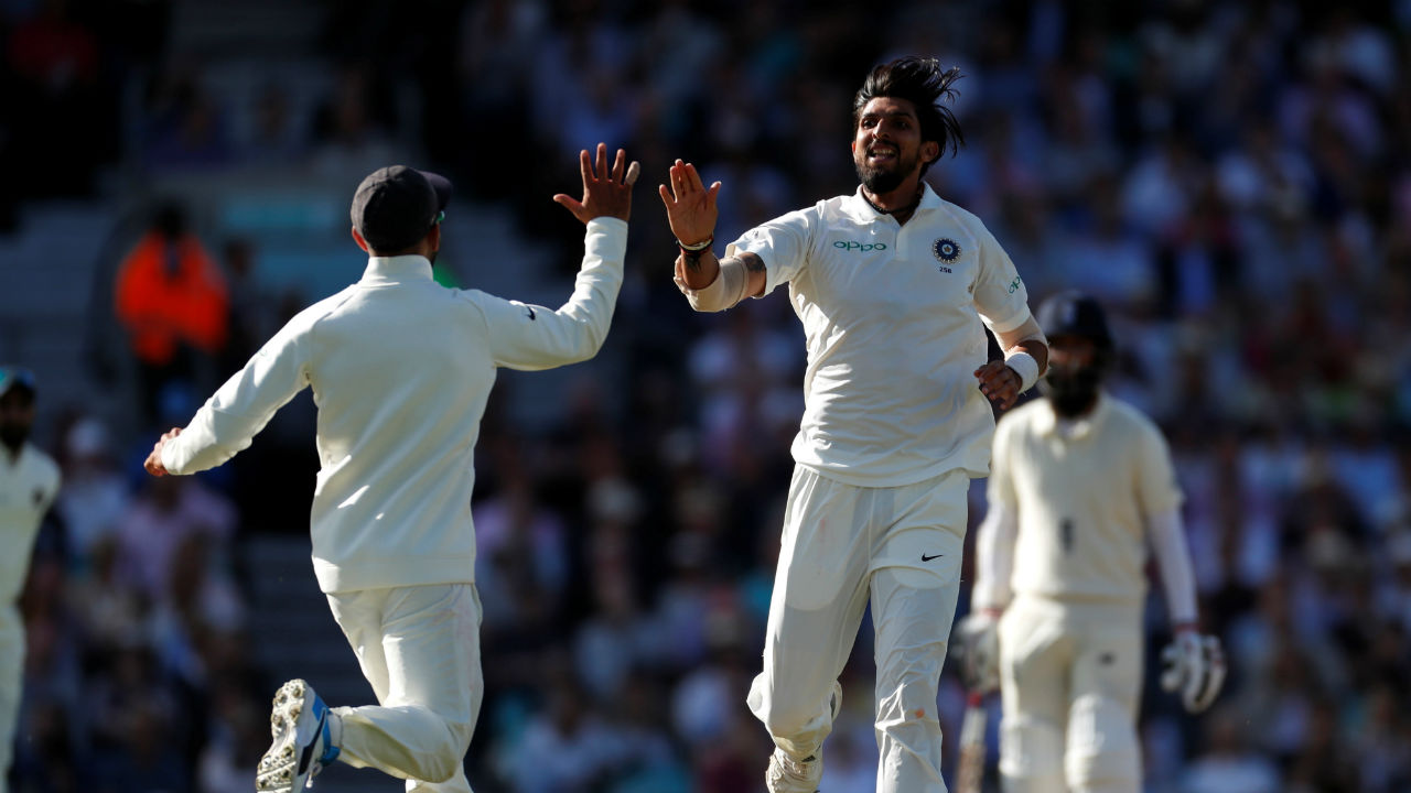 Ishant Sharma sent Jonny Bairstow back in the very next over. Low on confidence, Bairstow nicked an away going delivery by Sharma to Indian wicketkeeper Rishabh Pant. From a position of relative strength, England were then reeling at 134/4. (Image- Reuters)