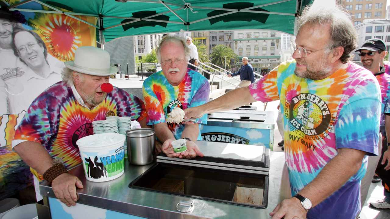 Ben Cohen and Jerry Greenfield | Ben & Jerry's | Like Paul Allen and Bill Gates, Cohen and Greenfield were childhood friends. The two were so close that they even went on double dates. Their love for food and a correspondence course in ice-cream making in 1977, helped the pair turn their friendship into a successful business venture. The pair has been bringing smiles to faces across the globe since 1978, and their idea of giving back to the community resonates with their staunch customer base. (Image: Reuters)