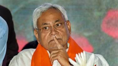 Activists protest outside Bihar Bhawan, seek Nitish Kumar's resignation over deaths of children
