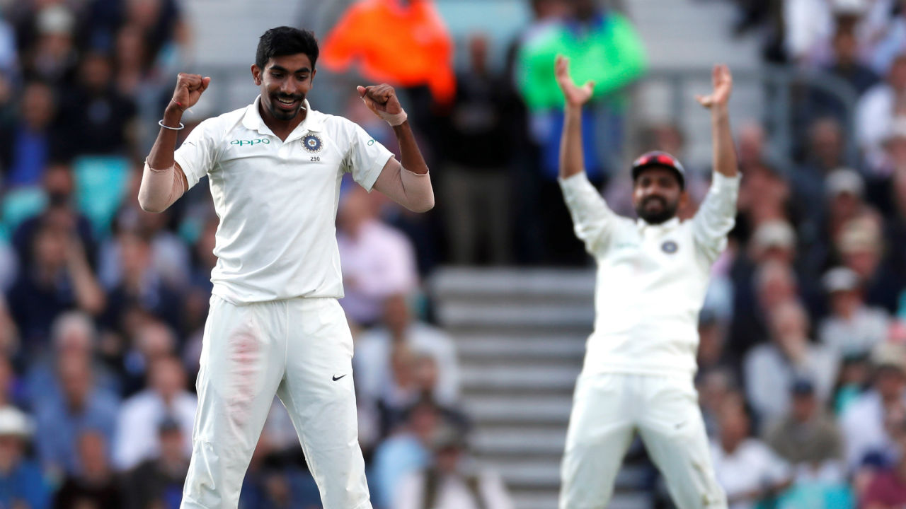 At 133/1, England were in control of the game. Jasprit Bumrah then took two big wickets in one over to swing the tide back in India's favour. Bumrah first clean bowled Cook (71) and then trapped Root (0) in front of the wickets. (Image - Reuters)