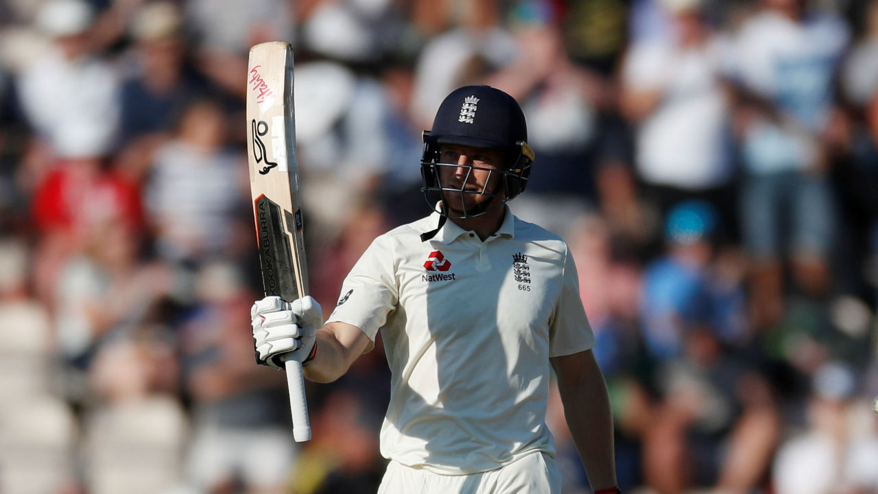 Jos Buttler batted superbly at the other end as he completed his ninth Test fifty. His innings helped England to cross the lead of 200. He was eventually dismissed on 69 by Ishant Sharma as the tall pacer trapped him in front of the wickets. (Image - Reuters)