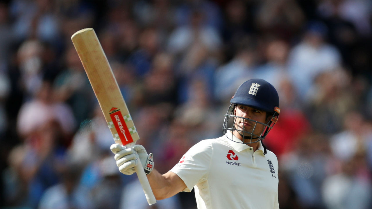 Cook batted sensibly and reached his fifty after 139 balls during the second session. This was the opener's 57th half-century in Tests and surprisingly the first fifty scored by an opener in the ongoing series. (Image - Reuters)