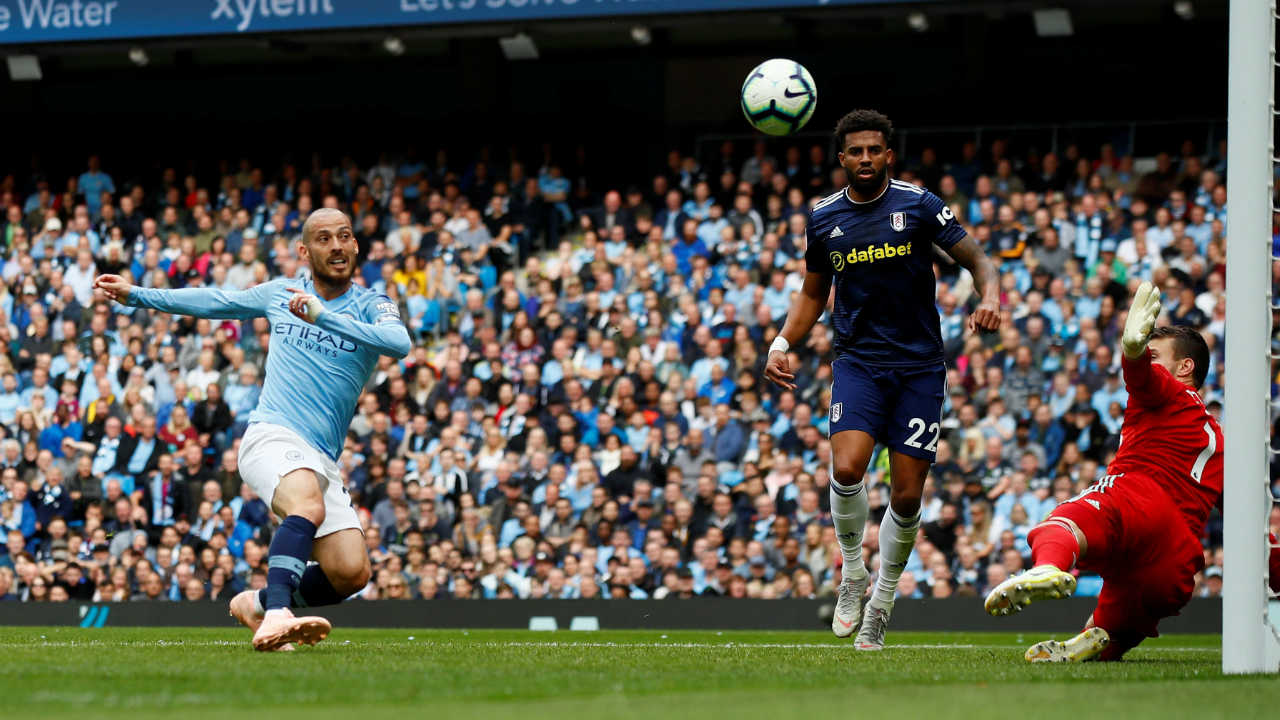 Manchester City 3 – 0 Fulham | The defending champions eased past Fulham with another dominant display to maintain their unbeaten start to the season. Leroy Sane making his first league start this season, marked the occasion with a goal in the 2nd minute. Both Silva's then combined to double the lead when David Silva volleyed home from Bernardo Silva's cross in the 21st minute. Raheem Sterling scored City's third goal when he tapped in from Sergio Aguero's low cross within two minutes of the second half. (Image: Reuters)