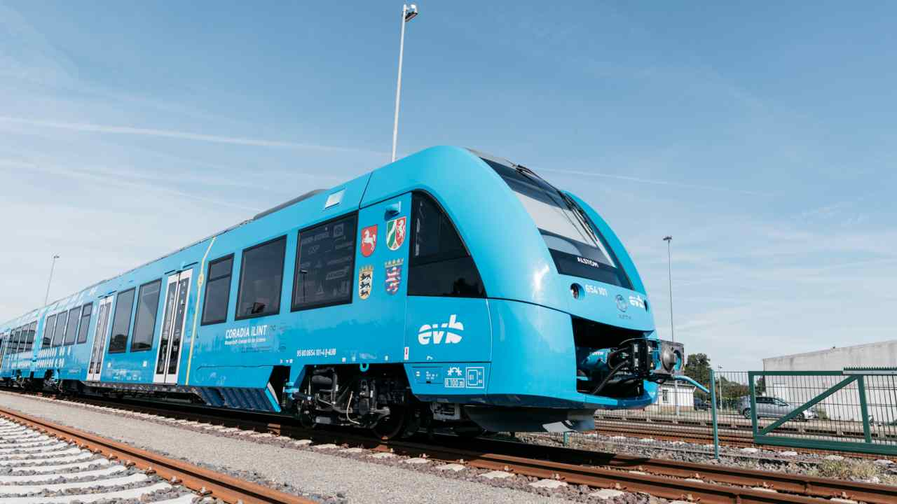 Germany rolled out the world's first hydrogen-powered train. The French-made train completed its first scheduled trip from Bremervorde a town in Lower Saxony, Germany on Monday. (Image: René Frampe/Alstom)