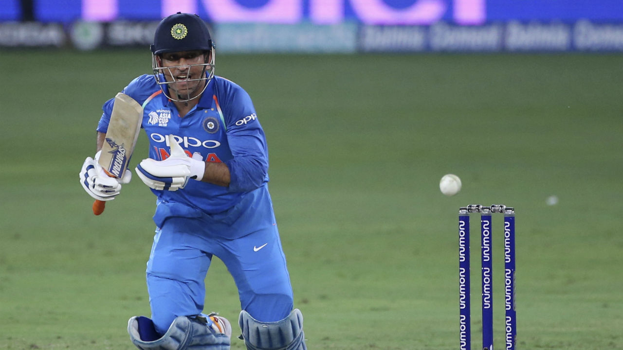 In a surprising move M S Dhoni was promoted at no.4 and he along with Sharma stitched a 64-run partnership and took the team four short of the target. He was dismissed on a personal score of 33 off 37 balls. Dinesh Karthik then scored the winnings runs as India registered a comfortable 7 wickets win. After wins against Hong Kong and Pakistan, this was India's third win on bounce. (Image: AP)