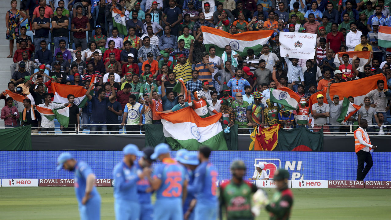 Men in Blue are never short of support wherever they play and the game against Bangladesh was no different. (Image: AP)