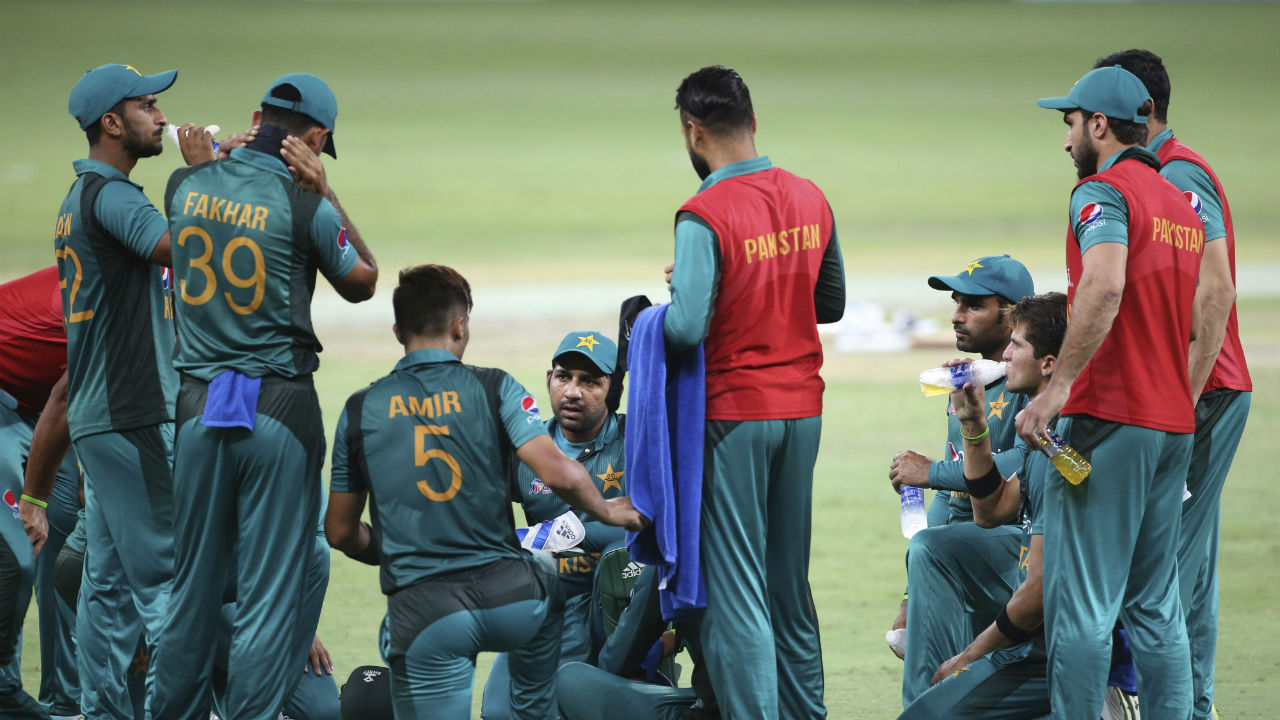 There was no respite for the Pakistanis as the Indian openers and Dubai's heat got the better of the Men in Green. (Image: AP)