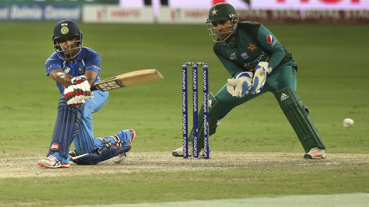 Dinesh Karthik and Ambati Rayudu then knocked off the reaming runs as India cruised to a comfortable eight wicket win in just 29 overs. (Image: AP)